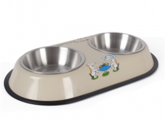 Dual Stainless Bowl